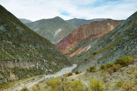 san isidro: Multicolored mountains between Iruya and San Isidro villages, Salta province, Argentina