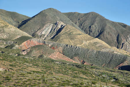 puna: Views of colorful mountains near Payogasta, Argentina