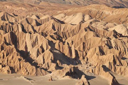 Desert landscape of Valley of Mars - Atacama Desert - Chile