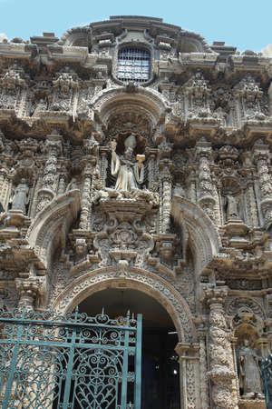 san agustin: Entrance view of San Agustin barroque church, Lima, Peru