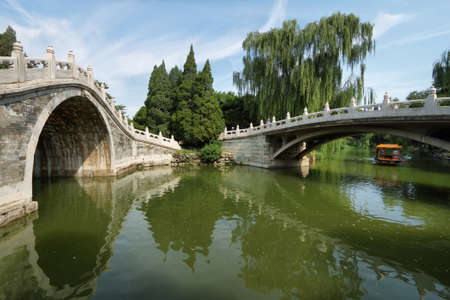 summer palace: Arch bridge in Summer Palace, Beijing, China