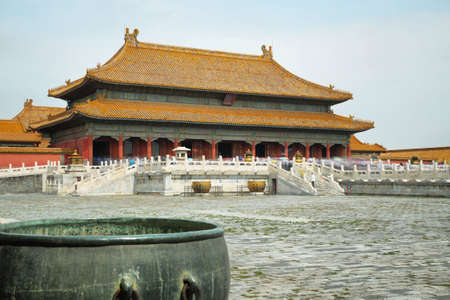 heavenly: Palace of Heavenly Purity in Forbidden City in Beijing, China