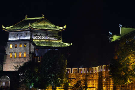 east gate: East Gate Tower of Xiangxi, Fenghuang, China Stock Photo