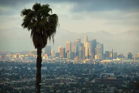 raiser: Downtown Los Angeles skyline, California