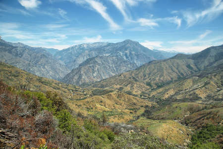Rugged mountains of Kings Canyon National Park in the southern Sierra Nevada, California, U.S.A.