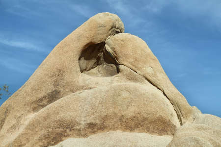 joshua tree  national park: Curious rock in Joshua Tree National Park, Mojave Desert, California