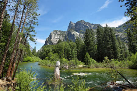 Sierra Nevada Scenery - Kings river in Kings Canyon National Park, California