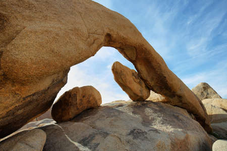 joshua: Arch rock in Joshua Tree NP, California Stock Photo