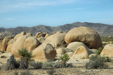 Rocks in Joshua Tree National Park, Mojave Desert, California Stock Photo
