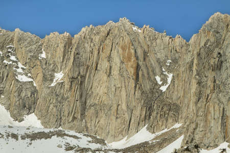 mammoth lakes: Sheer peaks from Mono pass trail, California