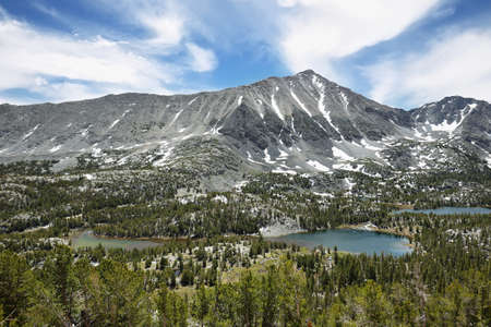 inyo national forest: Rewarding views of Little valley lakes, California