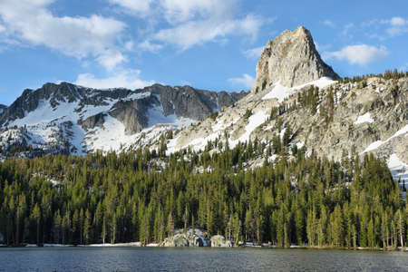 mammoth lakes: Mary lake and Crystal crag in Mammoth lakes national park, California Stock Photo