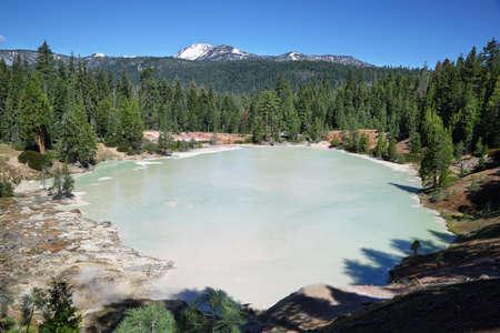 Boiling spring lake in Lassen Volcanic National Park, California Stock Photo
