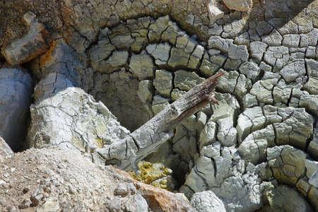 Geothermal area in Devils kitchen, Lassen Volcanic National Park, California