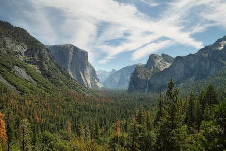 Amazing views of El Capitan and Half Dome in Yosemite national park, California