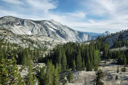 half dome: Half Dome seen from Tioga Pass in Yosemite national Park, California