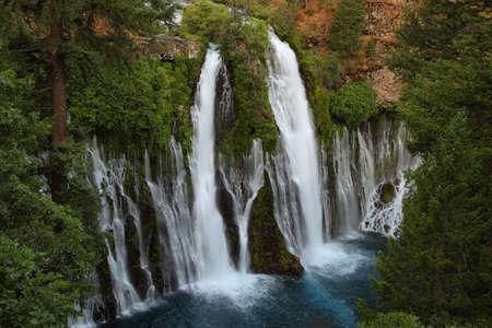 geological feature: MacArthur Burney Falls in California, Usa
