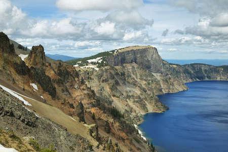 crater lake: Crater lake views hiking to Garfield peak, Oregon Stock Photo