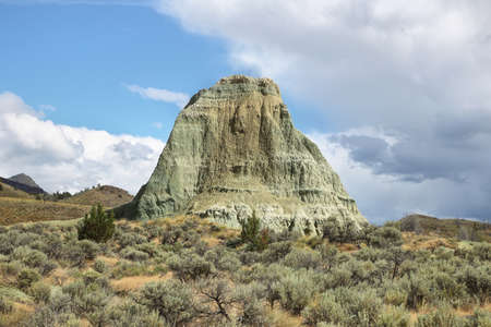 Foree Area rock formation, John Day Fossil Beds, near John Day, OR