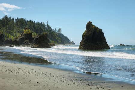 Ruby beach in Washington state coast, USA