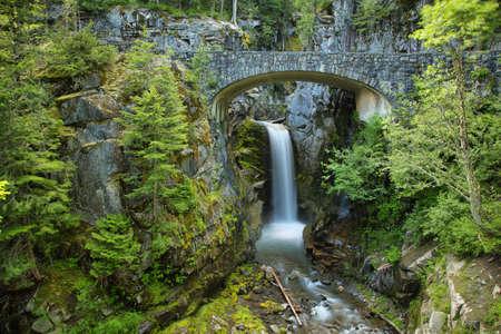 Christine Falls at Mt. Rainier National Park, Whasington, USA Stock Photo