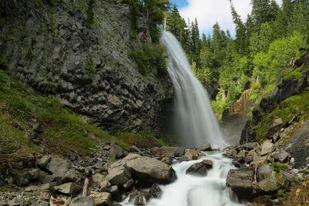 Narada Falls at Mt. Rainier National Park, Whasington, USA Stock Photo