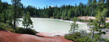 Boiling spring lake in Lassen Volcanic National Park, California Stock Photo