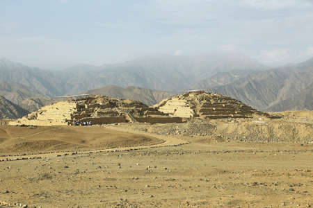 Caral, the most ancient city in the Americas. Located in Supe valley, 200km north of Lima, Peru