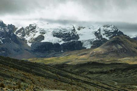ancash: View of glaciers tongues from Pastoruri glacier in Peru