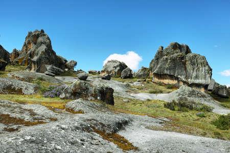 ancash: Hatun Machay stone forest in Ancash province, Peru.