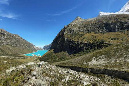 Paron meer, Ancash provincie, Peru Stockfoto