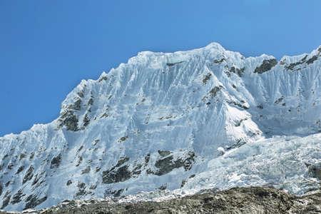 ancash: Shapraraju peak (6112m) from Laguna 69 trail, Ancash province, Peru