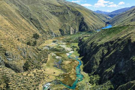 Clear waters of Caà ± ete river near Vilca village,