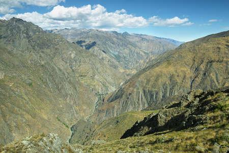 unexplored: Sheer mountains from Huamanmarca in Nor Yauyos Cochas, Peru