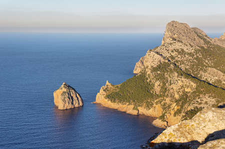 Majorca / Formentor / picture showing the stunning shore and cliffs at the Formentor cape area in Majorca