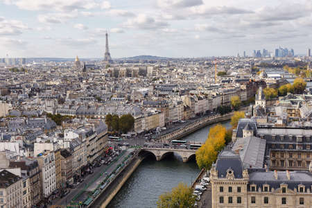Paris seen from the top of Notre Dame, France Stock Photo