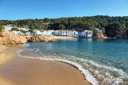 Tamariu bay and coastal town, Costa Brava in Catalonia, Spain.