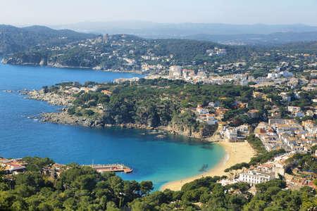 Seascape mediterranean sea in Costa Brava village Llafranc, Palafrugell, Catalonia,Spain.