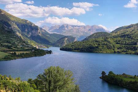 Lanuza Reservoir in Valle de Tena, Huesca, Spain Stock Photo