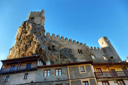 Castle of the city of Frias in Burgos, Spain