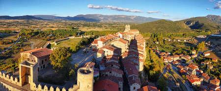 Vue de Frias depuis le château, Burgos, Espagne