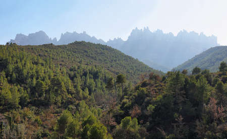 Montserrat mountain view in Catalonia, Spain