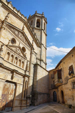 Catholic Church in the town of Cretas in Teruel Spain