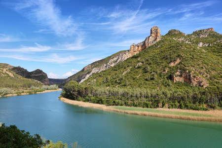 Reservoir of Sant Llorenc de Montgai in Lleida, Catalonia, Spain
