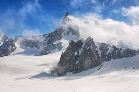 The Dent du Geant from Punta Helbronner, Aosta Valley, Italy