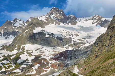 Glacier alnd falls in Val Veny, Aosta valley, Italian alps Reklamní fotografie