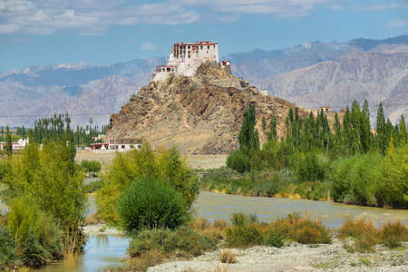 Stakna Monastery, Stakna monastery with view of Himalayan mountains - it is a famous Buddhist temple in, Leh Ladakh, Jammu and Kashmir, India.