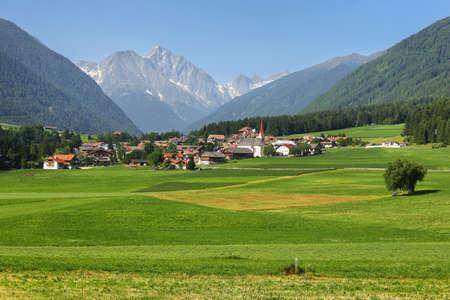Rasun di Sotto (Niederrasen), small village in South Tyrol, Italy alps. Archivio Fotografico