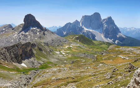 Views from Forcella Rossa, Dolomite Alps, Italy