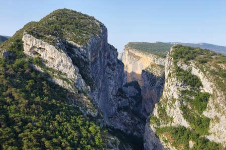 Amazing viewpoint of Verdon Gorge, Provence, France 免版税图像